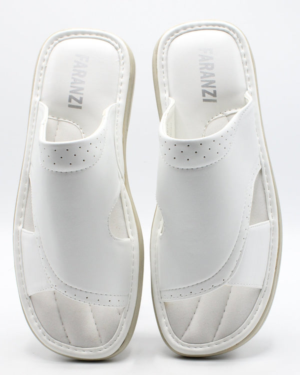 VIM Men'S Open Toe Slide - White - Vim.com