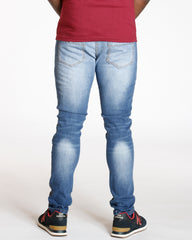 Light Blue Cut & Sow Rips Patch Skinny Jean