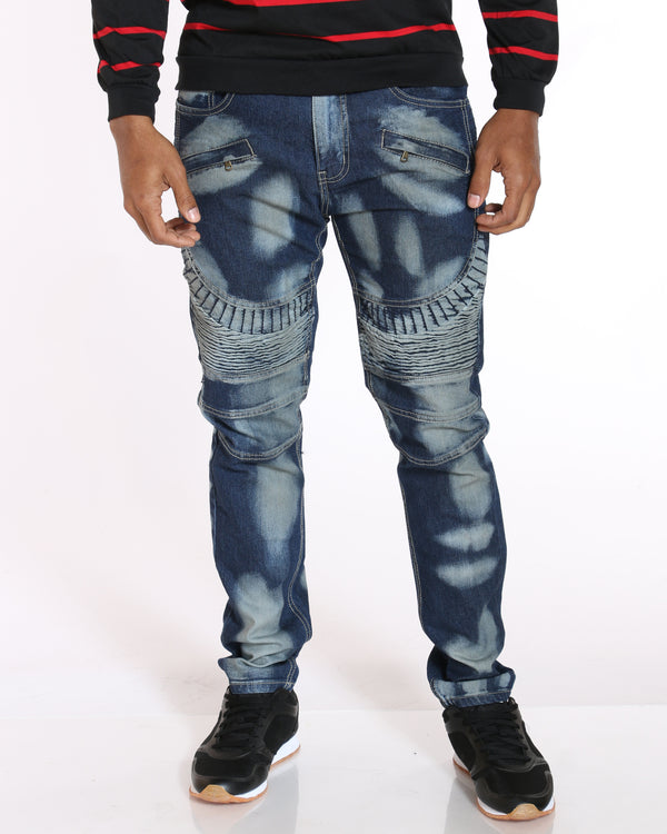 VIM Moto & Heavy Paint Jean - Medium Blue - Vim.com