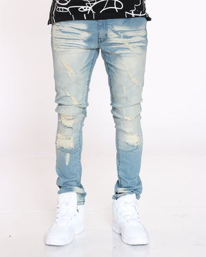 Men's Scott Ripped Backing Jean - Vintage-VIM.COM