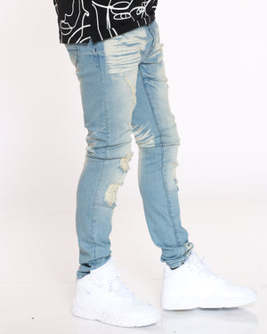 Men's Scott Ripped Backing Jean - Vintage