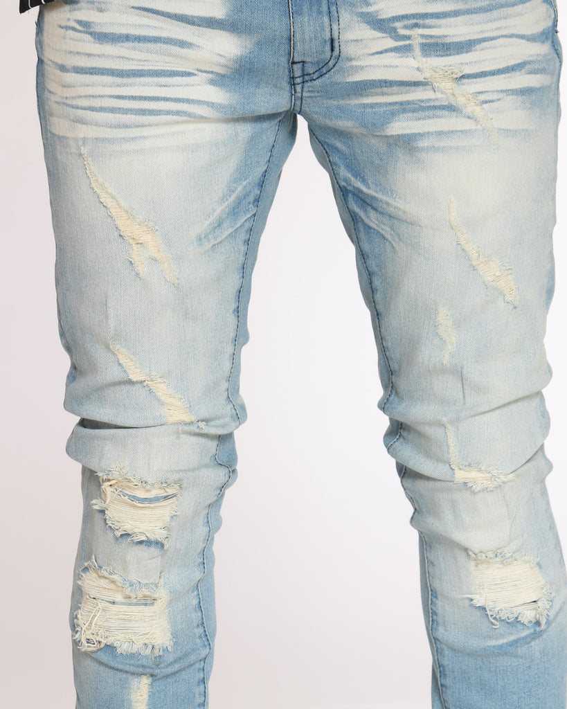 Scott Ripped Backing Jean - Vintage