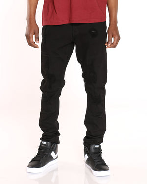 Men's Richard Ripped Knee Jean - Black-VIM.COM
