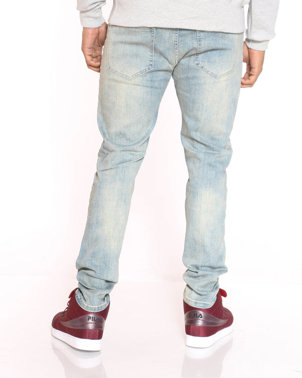 Men's Lou Ripped & Blasting Skinny Jean - Light Blue