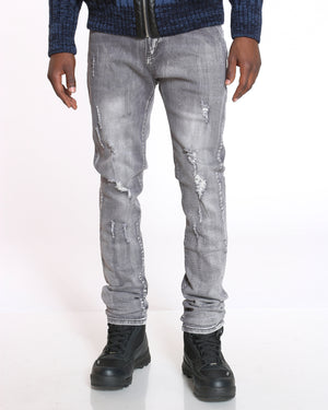 Men's Noah Ripped Blasting Jean - Grey