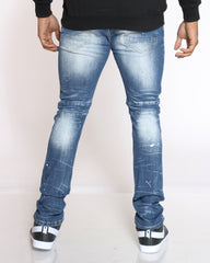 Ray Mud Ripped & Repair Jean - Jupiter Blue