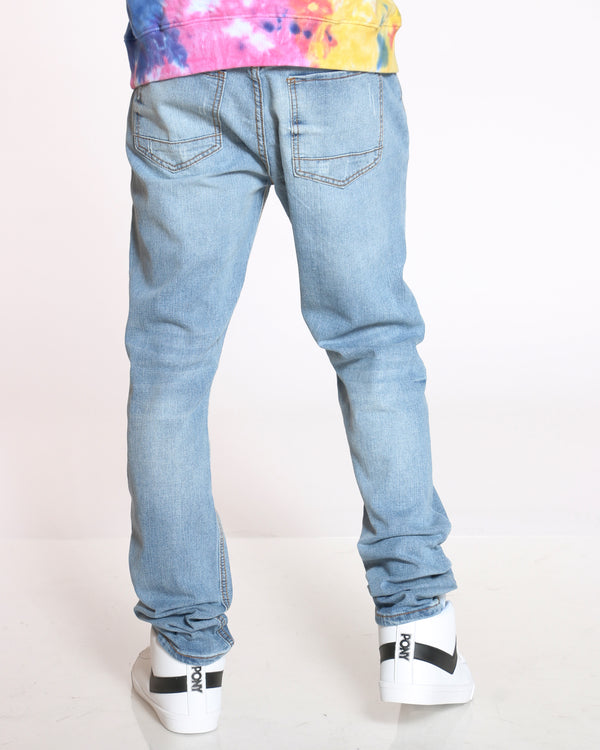 Men's Small Ripped Jean - Blue Grey