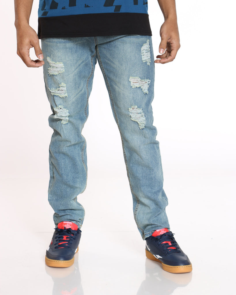 River Wash Ripped Jean - River Wash