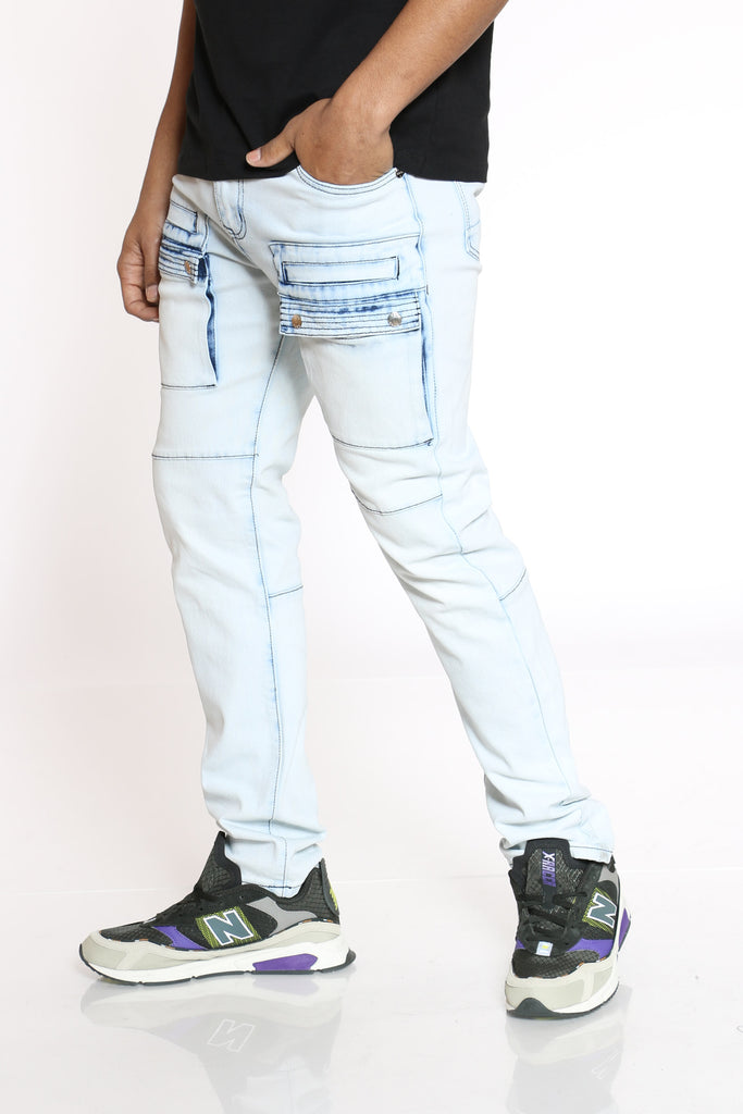 Harold Cargo Slim Straight Jean - Ice Blue