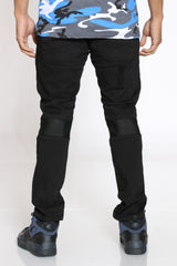 Curtis Ribbed Trim & Patches Blasting Jean - Black