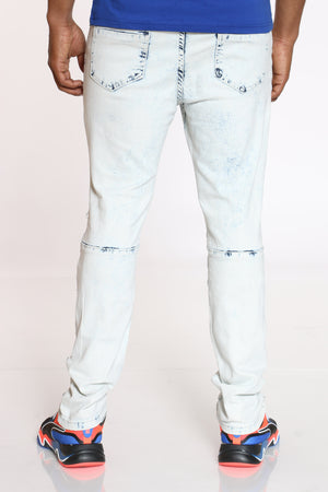 Men's Moto Skinny Jean - Antique Bleach