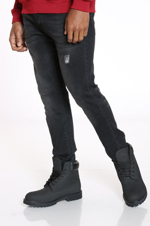 Men's Ripped Skinny Fit Jean - Black