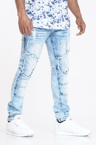 Catch Up Later Ripped Jean - Light Blue-VIM.COM