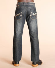 Embroidery Pocket Jeans
