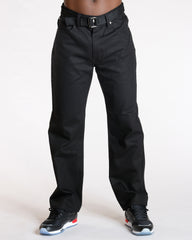 Men's STRAIGHT FIT DENIM JEANS - BLACK