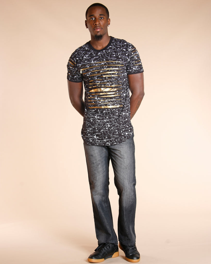 VIM Faded Embroidery Pocket Jeans - Dark Blue - Vim.com