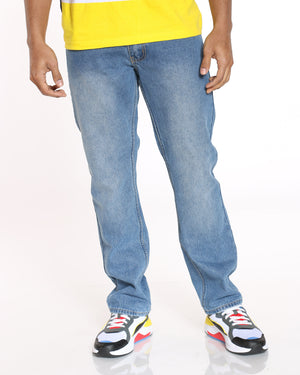 Men's Cedric Solid Skinny Fit Jean - Light Blue-VIM.COM