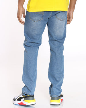 Men's Cedric Solid Skinny Fit Jean - Light Blue