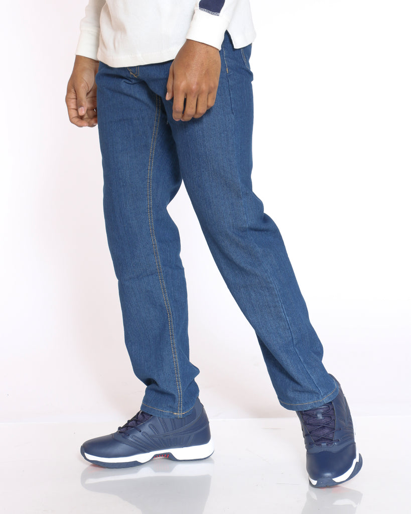 Relax Fit Non Stretch Jean - Dark Blue