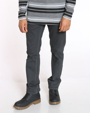 Men's Maine Relaxed Fit Straight Leg Jean - Washed Black-VIM.COM