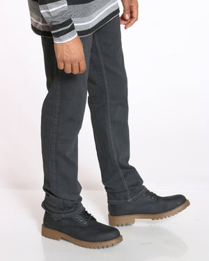 Men's Maine Relaxed Fit Straight Leg Jean - Washed Black