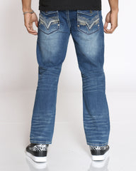 Double Stitch Bootcut Jean - Medium Blue
