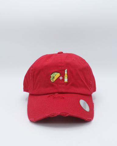 Taco & Bear Distressed Dad Hat