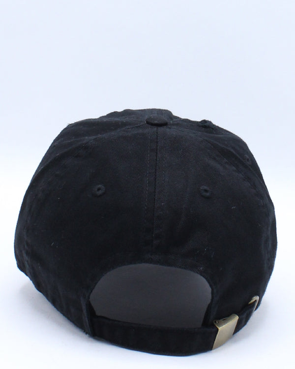 Men's Slime Colorful Ripped Dad Hat - Black