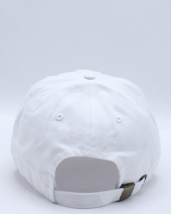 Men's Slime Colorful Ripped Dad Hat - White