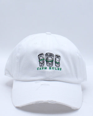 Women's Cash Rules Rips Dad Hat - White