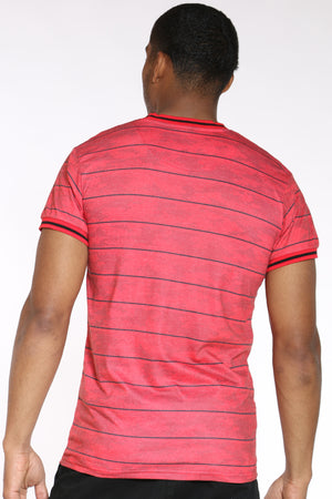 Men's Camo Striped Tee - Red