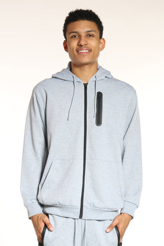 Men's Tech Fleece Hoodie - Heather Grey-VIM.COM