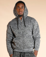Men's Heavy Marble Fleece Hoodie (Available In 4 Colors) - VIM
