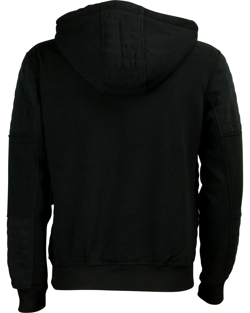 Men'S Fleece Moto Full Zip Hoodie