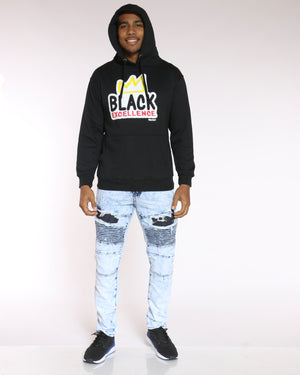 Men's Malcolm Black Excellence Crown Hoodie - Black