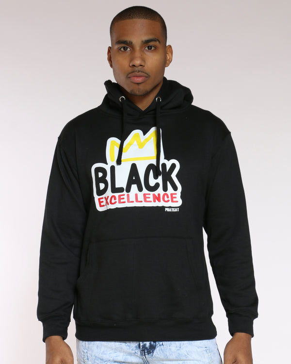 Men's Malcolm Black Excellence Crown Hoodie - Black-VIM.COM