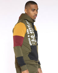 Tyson Color Block Real Gs Hoodie - Olive