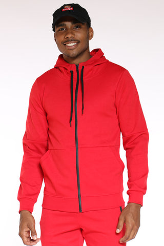 Men's Tech Fleece Hoodie - Red-VIM.COM