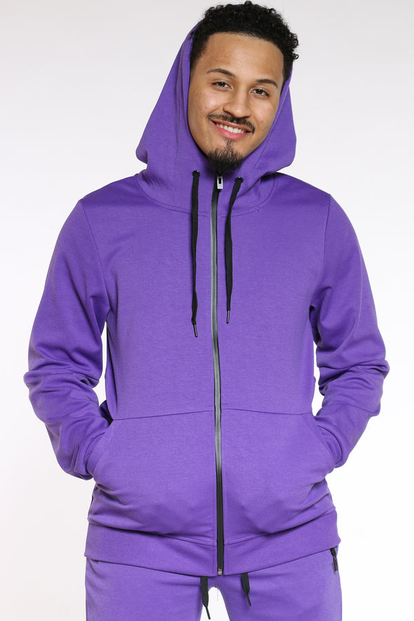 Men's Tech Fleece Hoodie - Purple-VIM.COM