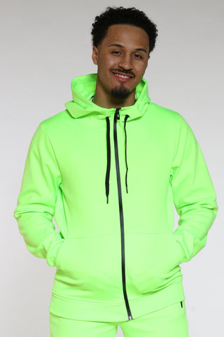 Men's Tech Fleece Hoodie - Neon Green-VIM.COM