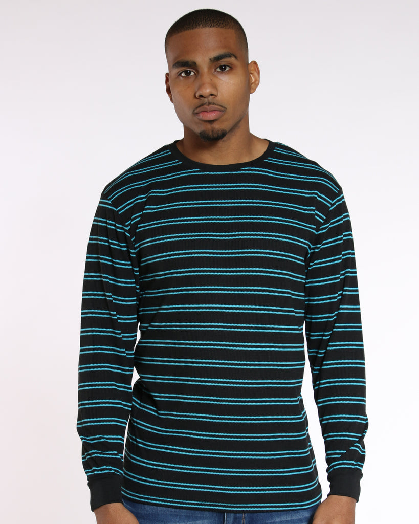 Men'S Thin Striped Thermal Tee