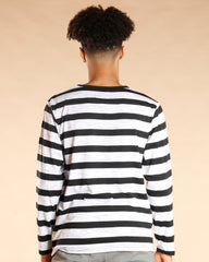 VIM Drake Long Sleeve Stripe Shirt - Black White - Vim.com