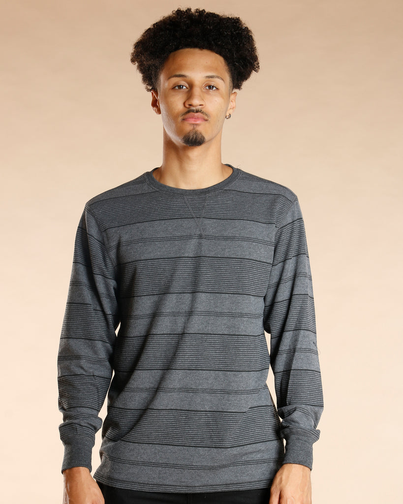 Striped Crew Thermal Shirt