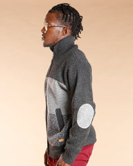 Color Block Acrylic Sweater