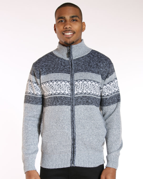 VIM Theo Design Marled Zip Sweater - Dark Grey - Vim.com