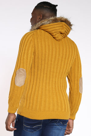 Men's Toggle Zip Up Hoodie - Mustard