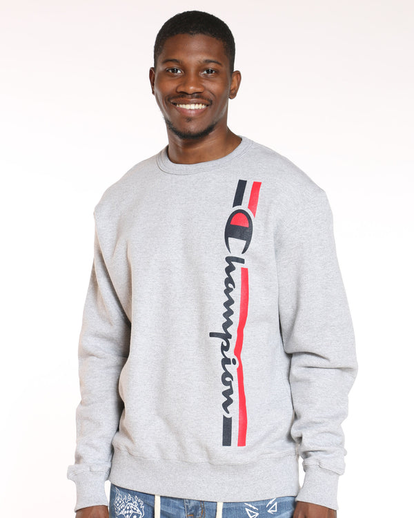 CHAMPION-Men's Champion Graphic Box Logo Sweater - Grey-VIM.COM