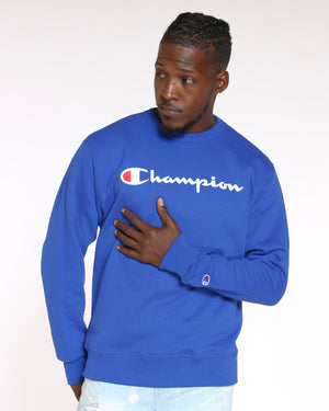 CHAMPION-Men's Champion Script Logo Crew Sweater - Surf Web-VIM.COM