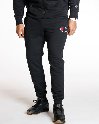 Black Big C Powerblend Fleece Jogger