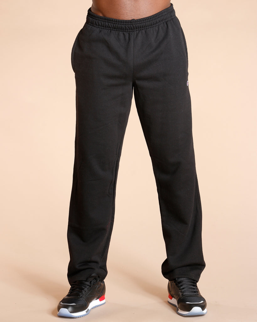 Power Blend Fleece Open Bottom Jogger - Black